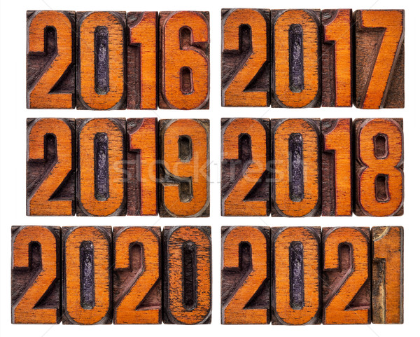 2016, 2017, 2018, 2019, 2020 and 2021 year set Stock photo © PixelsAway