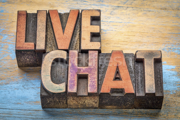 live chat word abstract Stock photo © PixelsAway
