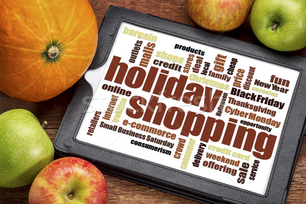 holiday shopping word cloud Stock photo © PixelsAway