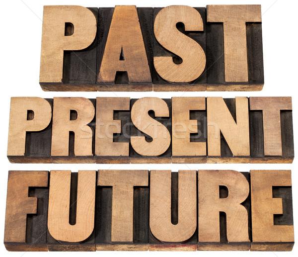 Passato presenti futuro collage isolato parole Foto d'archivio © PixelsAway