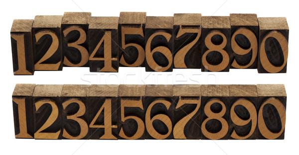 木材 番号 ヴィンテージ ブロック 10 ストックフォト © PixelsAway