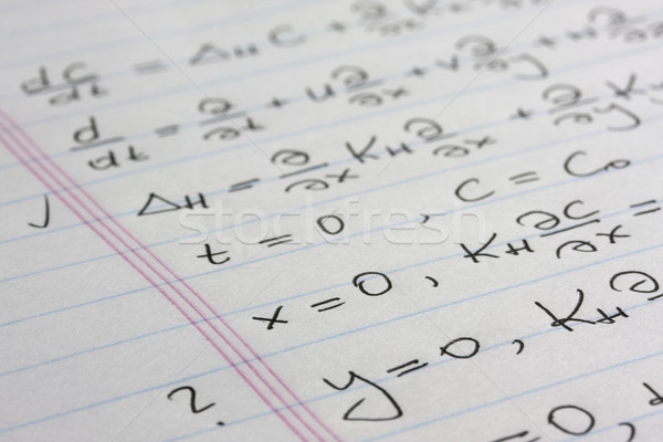 mathematical equations - science abstract Stock photo © PixelsAway