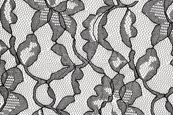 Nero pizzo tessuto modello di fiore pattern floreale Foto d'archivio © PixelsAway
