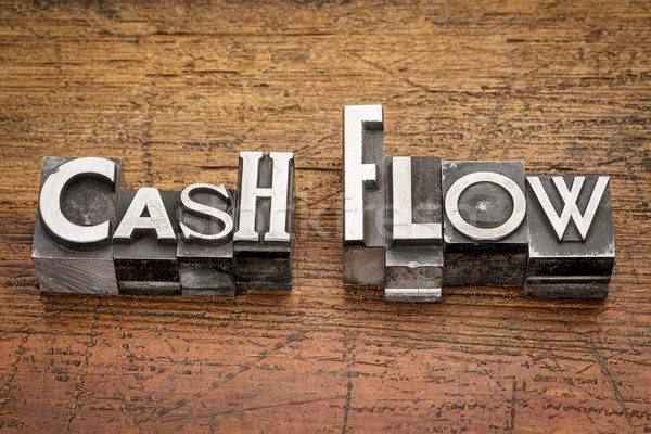 cash flow in metal type Stock photo © PixelsAway