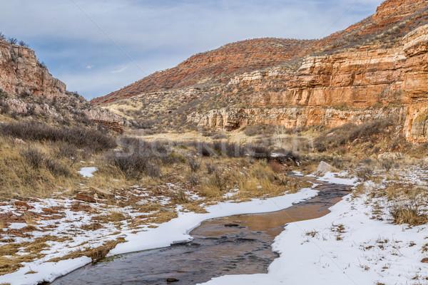 Stream arenaria canyon sabbia torrente rosso Foto d'archivio © PixelsAway
