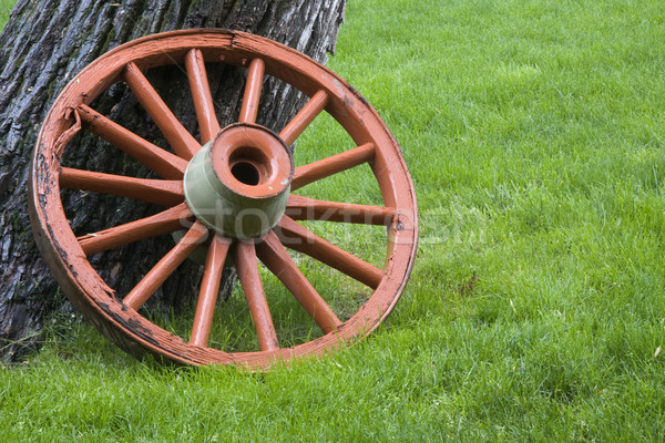 old wagon wheel  Stock photo © PixelsAway