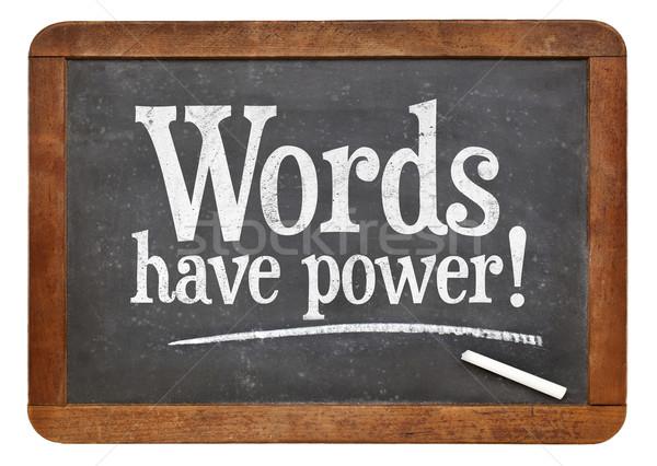 Words have power blackboard sign Stock photo © PixelsAway