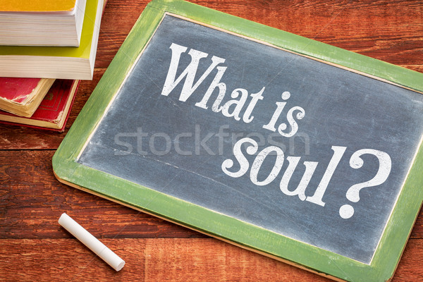 What is soul question on blackboard Stock photo © PixelsAway