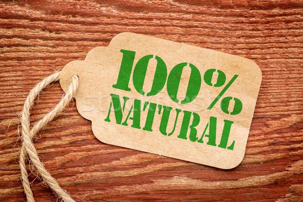 Uno cento cento naturale segno carta Foto d'archivio © PixelsAway