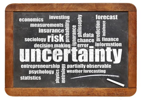 不確実性 リスク 言葉の雲 白 チョーク 文字 ストックフォト © PixelsAway
