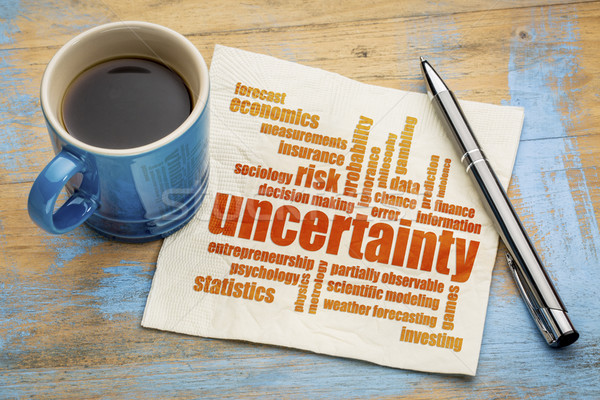 uncertainty and risk word cloud Stock photo © PixelsAway