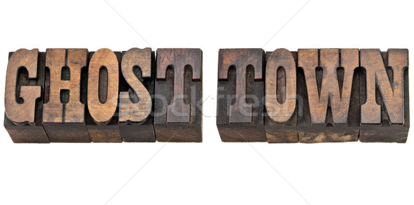 ghost town in western style type Stock photo © PixelsAway