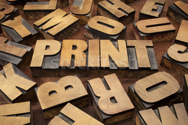 print concept in wood type Stock photo © PixelsAway