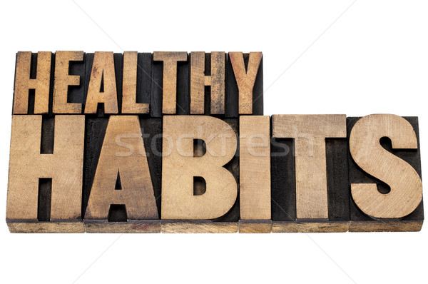 healthy habits in wood type Stock photo © PixelsAway