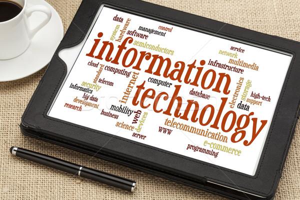 information technology word cloud Stock photo © PixelsAway