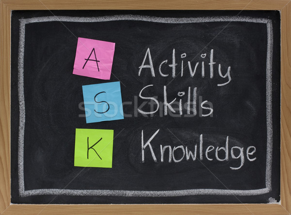 ask - acronym for training and development Stock photo © PixelsAway