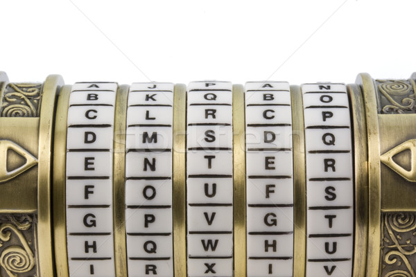 enter set up as a password to combination puzzle box  Stock photo © PixelsAway
