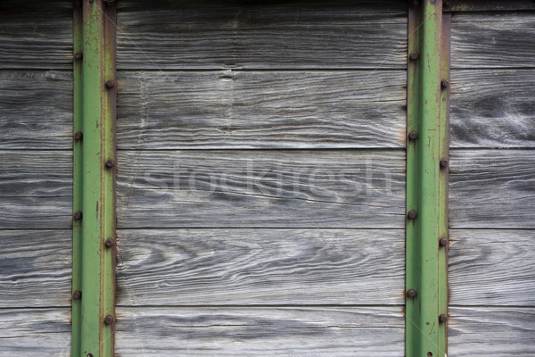 wood and metal background from old farm machinery Stock photo © PixelsAway
