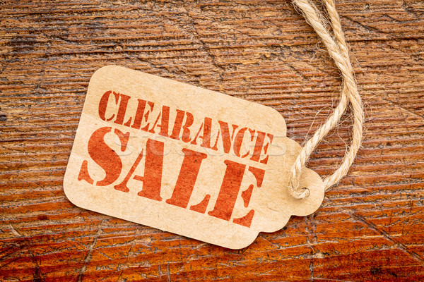 clearance sale sign on a price tag Stock photo © PixelsAway