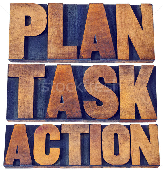 plan, task, action word abstract Stock photo © PixelsAway