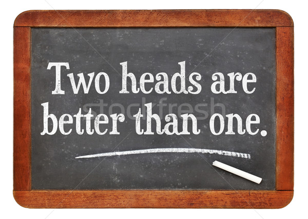 Two heads are better than one Stock photo © PixelsAway