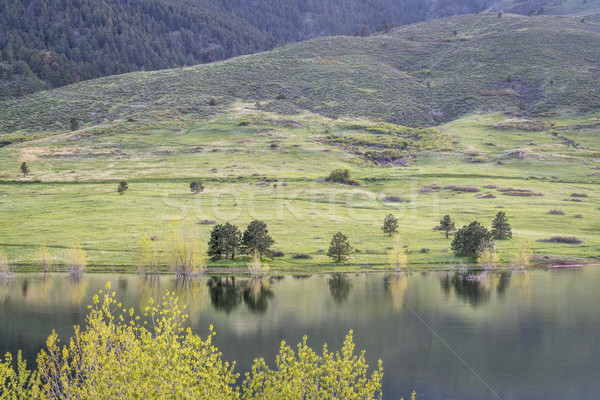 Colorado reservoir park landschap vers Stockfoto © PixelsAway