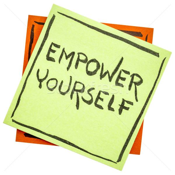 Te stesso promemoria nota motivazionale testo isolato Foto d'archivio © PixelsAway