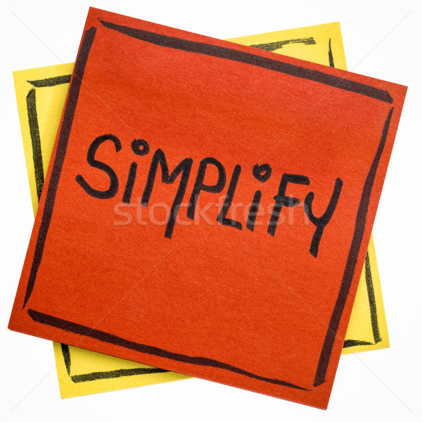 simplify reminder note Stock photo © PixelsAway