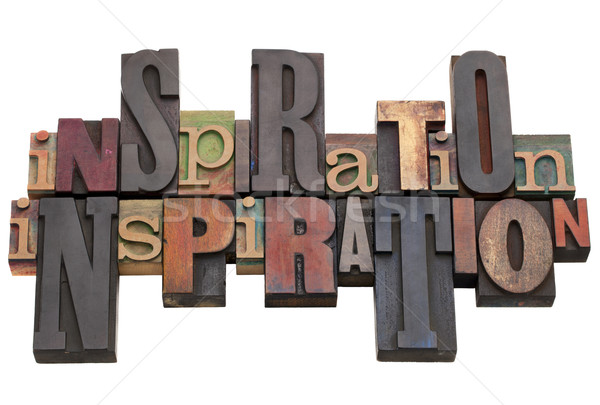 Stock photo: inspiration word abstract