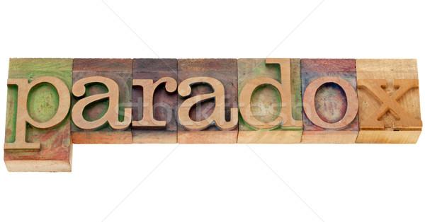 Woord type geïsoleerd vintage hout Stockfoto © PixelsAway