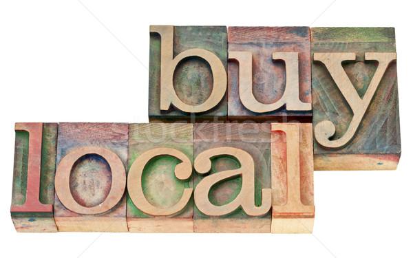 Vásárol helyi magasnyomás fa izolált Stock fotó © PixelsAway