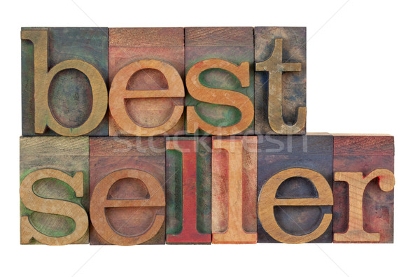 Bestseller hout type woord vintage Stockfoto © PixelsAway