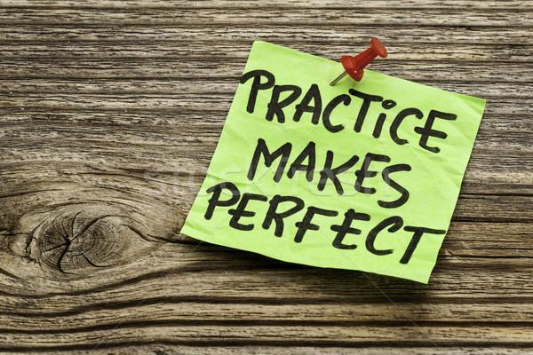 practice makes perfect  Stock photo © PixelsAway