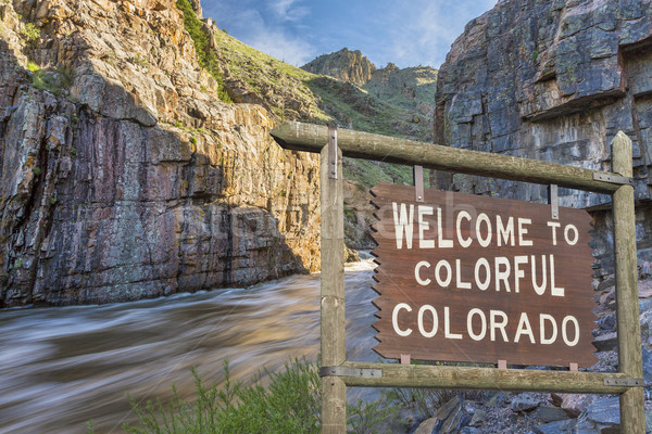 Colorado welcome sign Stock photo © PixelsAway