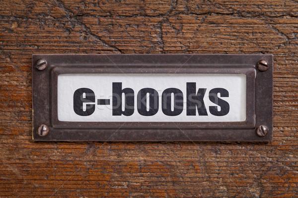Pliku szafka etykiety brąz grunge książki Zdjęcia stock © PixelsAway