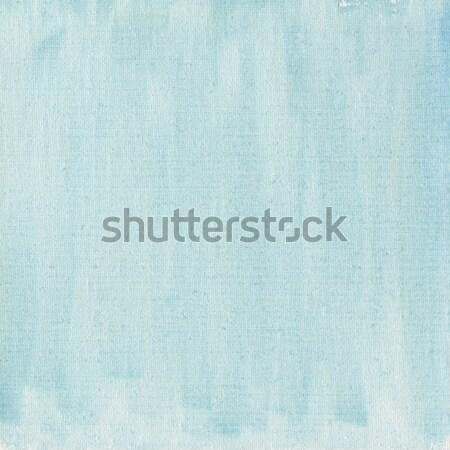 Açık mavi suluboya soyut tuval doku pamuk Stok fotoğraf © PixelsAway