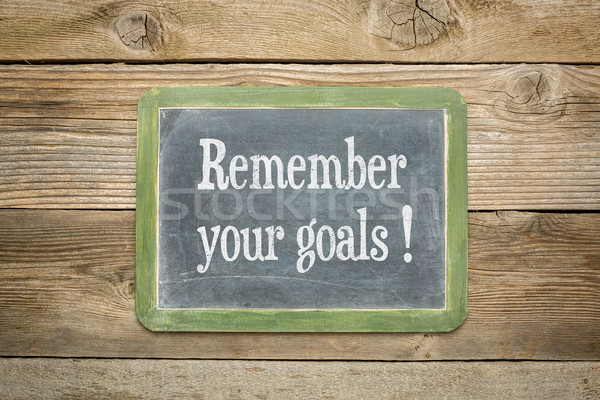 remember your goals Stock photo © PixelsAway