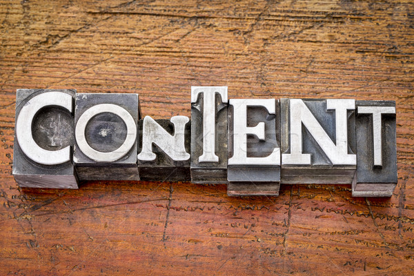content word in metal type Stock photo © PixelsAway