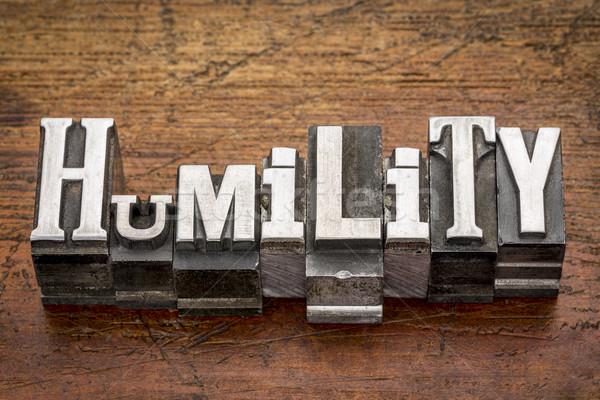 humility word in metal type Stock photo © PixelsAway