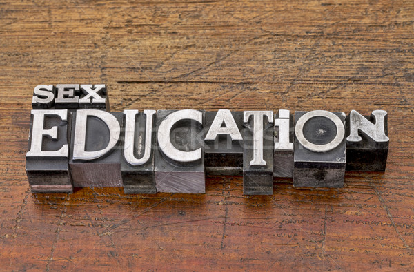 Sesso istruzione metal tipo parole mista Foto d'archivio © PixelsAway