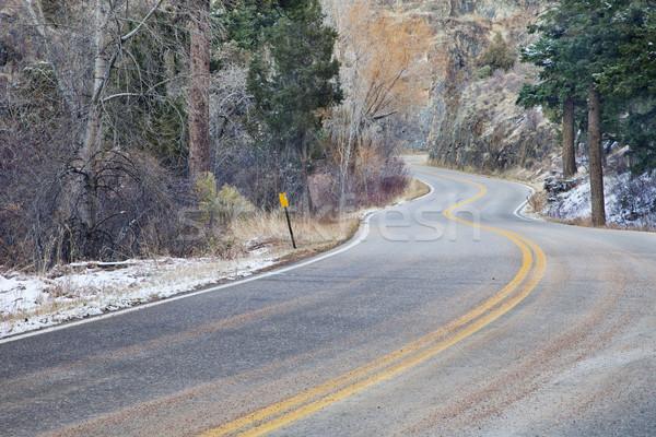 風の強い 山 道路 北方 コロラド州 砦 ストックフォト © PixelsAway