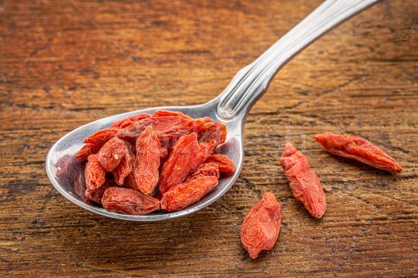tablespoon of dried goji berries Stock photo © PixelsAway