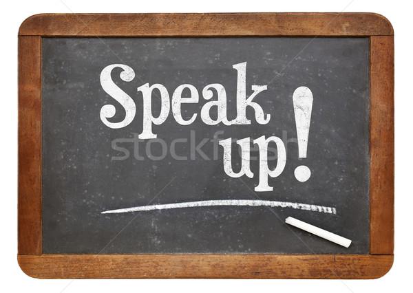 Parlare up motivazionale lavagna incoraggiamento Foto d'archivio © PixelsAway