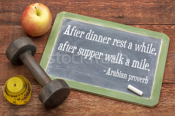 Arabe proverbe vie saine dîner dîner marche Photo stock © PixelsAway