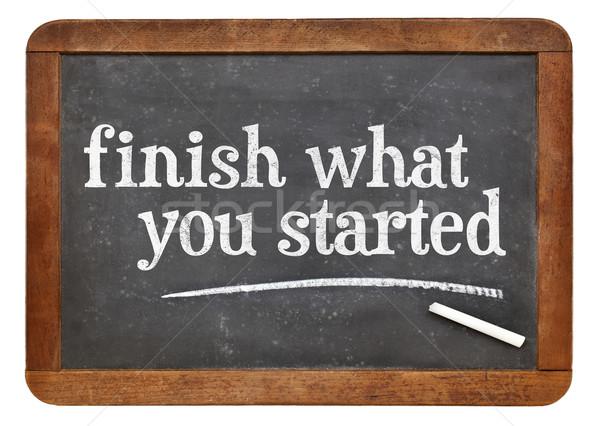 Bitirmek ne motivasyon hatırlatma bağbozumu tahta Stok fotoğraf © PixelsAway