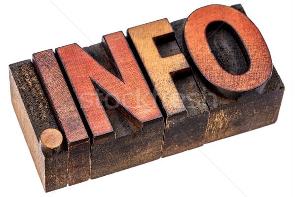 Punto info tipografia legno tipo informazioni Foto d'archivio © PixelsAway
