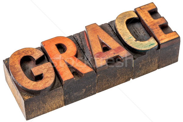 grace word abstract in wood type Stock photo © PixelsAway