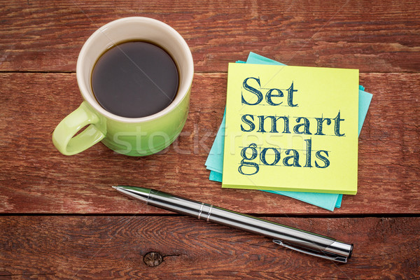set smart goals - sticky note concept Stock photo © PixelsAway