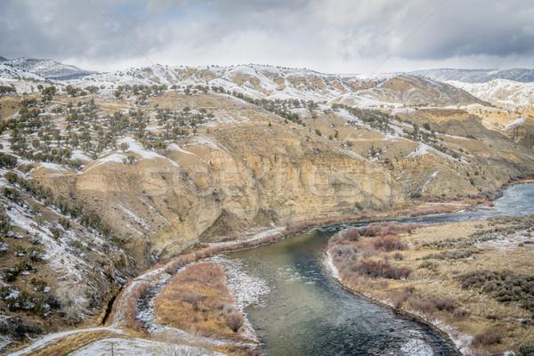 Vale Colorado rio inverno acima cenário Foto stock © PixelsAway