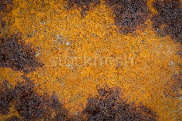 Rozsdás grunge foltos vasaló textúra sötét Stock fotó © PixelsAway